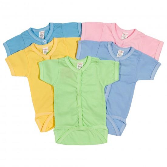 Бебешкo боди с къс ръкав в 5 цвята на Сиси Ди 56-68 см - Гащеризони и бодита за момчета