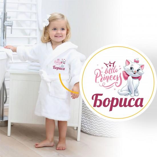 Детски халат с персонален печат и име на Вашето дете Коте 1-12 г. - Халати за деца