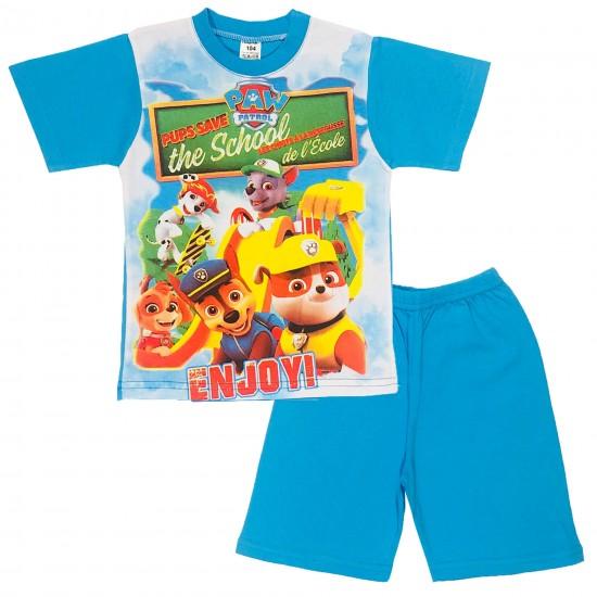 Детска лятна пижама с Пес патрул на Плами 92-122 см син цвят - Пижами за момчета