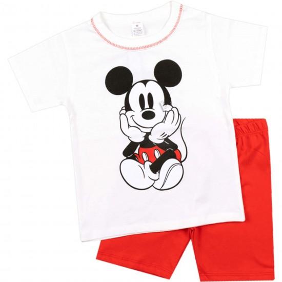 Детска пижама с къс ръкав Мики на Светли 80-110 см - Пижами за момчета