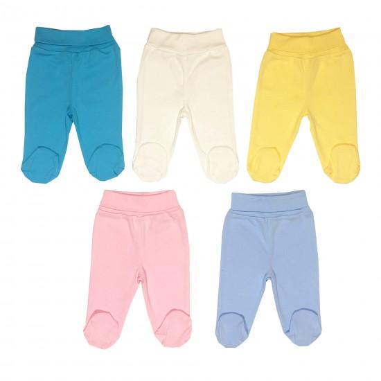 Бебешки ританки с регулиращ ластик 5 цвята на Индиго 50-68 см - Ританки, клинове, долнища