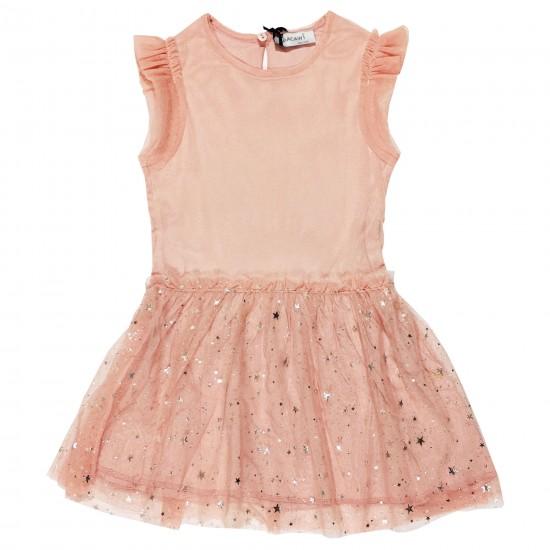 Детска рокля с нежен тюл и звездички 98-122 см - Рокли и поли