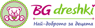 Детски памучен клин с цветни точки на <b>Севтекс </b> 98-128 см. тъмносин цвят
